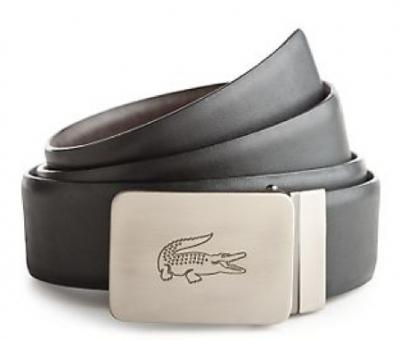 Fashion Belt Buckles  Women on Lacoste Men S Reversible Leather Belt With Engraved Logo Buckle