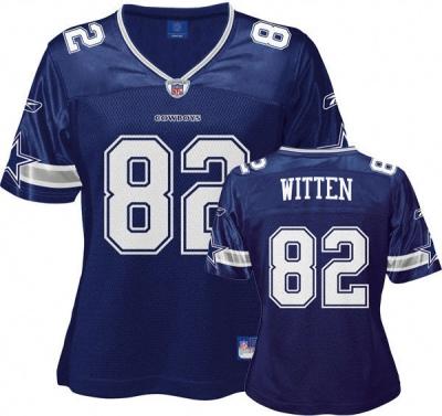Jason Witten Reebok Navy Replica Dallas Cowboys Women's Jersey